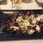 insalata calamari radicchio e olive