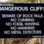 Strict Warning sign at Kimmeridge Bay