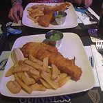 Fish/Chips/Mushy Peas for 2 with 1 beer and 1 Pepsi. €23