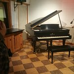 the piano in Studio B and the cupboard Elvis kicked
