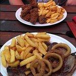 16oz steak and buffalo wings
