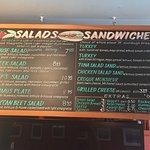 Sandwiches and salad menu