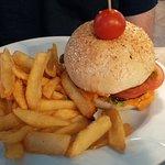 Prawn and shrimp burger