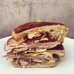 Cubano! House made Boillo, 8 hour smoked pork, ham, house made pickles, swiss and mustard