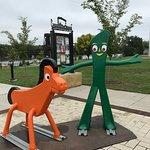 10-05-18 Gumby & Pokey statues at an entrance to the park.