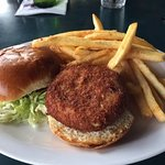 Crab Cake with French Fries