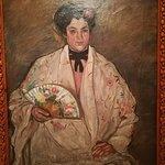 La mujer del abaníco, Francisco Iturrino.