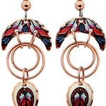 Handmade Jewelry by Copper Reflections in colorful feather design