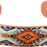 Colorful Southwest Native American Bracelets Handmade from Copper by Copper Reflections