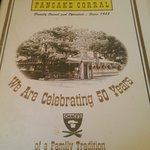 Front of the menu.
