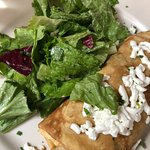 Spinach and goat cheese crepe