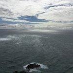Tasman Sea and Pacific Ocean meet at Cape Reinga