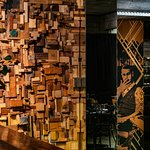 Wood wall made from left over timber