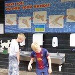 hand washing area