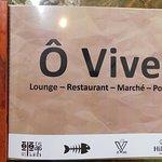 Carte du Restaurant Ô VIVE