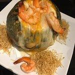 Visitamos o Restaurante duas vezes e não resistimos e pedimos o mesmo prato! Camarão na moranga