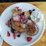 pancake with yogurt and granola