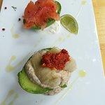 avocado salmon, avocado babaganoush