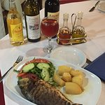 Special meal at Milos restaurant
