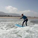 Surfing in Famara