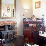 Traditional English pub furniture.