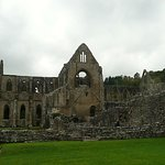 Tintern Abbery on a gloomy October afternoon.