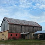 Barns and stables at the Amish Heritage Farm Museum