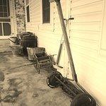 Dawdi Haus Museum front porch at the Amish Heritage Farm Museum