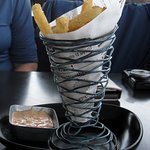 Yucca fries and dip