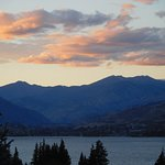 Sunset over Lake Chelan, from Sorrento's.