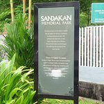 Sign at entrance to Sandakan Memorial Park