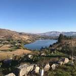 One lake and Lake Chelan in the disance
