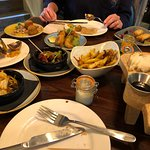 Beautiful food and company at the Holcombe Tap