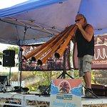 Live Didgeridoo band were great fun