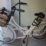 De fiets waarmee we 3 uur rond getoerd hebben!