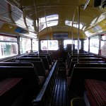 Inside of 1950's routemaster bus