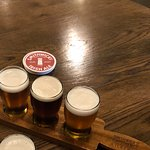 The tasting paddle. Definitely recommend a taste of all three.
