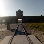 The entrance to Auschwitz-Birkenau