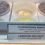 2 Maple ice cream flavors yum, the menu