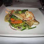 Fantastic Grouper, Shrimp and Salmon entree