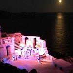 Stunning moon backdrop