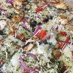 Their Mediterranean flatbread is really tasty! Ask for it extra crispy on the bottom