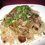 Chicken Marsala over rice