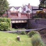 Bridge over the stream near the park entrance