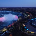 Light show on the Falls
