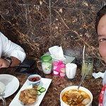 lunch ayam penyet and lontong sayur with soda susu