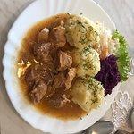 Goulash with mashed potatoes
