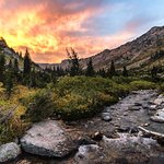 Fire in the sky to the west, shot from North Fork Cascade Canyon (Josh Headley 2018)