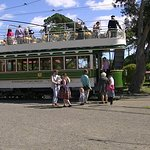 The tram that we had just had a ride on.
