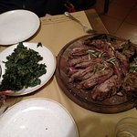 Florentine Steak with the side of Spinach